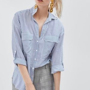 Long Sleeve Striped Button Down Shirt
